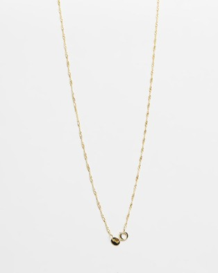 SAINT VALENTINE Geneva Fine Rope Chain Necklace - Jewellery (Gold)