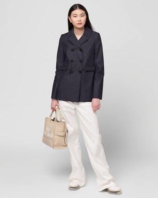 The Marc Jacobs Small Traveler Tote - Handbags (Beige)