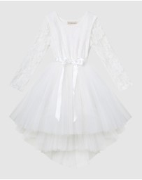 Designer Kidz - Candi Lace L/S Tutu Dress