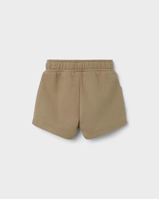Lil' Atelier - Silondon Sweat Shorts   Kids - Shorts (Sage) Silondon Sweat Shorts - Kids