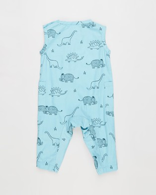 Cotton On Baby Pierre All In One   Babies - Sleeveless (Blue Ice & Dino Mammoth)