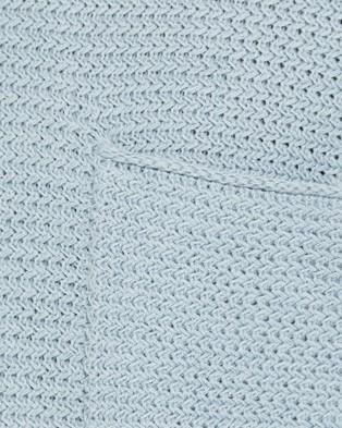 Jag Linen Textured Knit - Jumpers & Cardigans (Blue Mist)