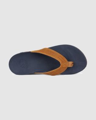 Kustom Cruiser Leather Thong - All thongs (NAVY TAN)