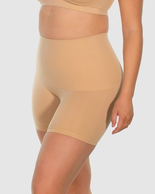B Free Intimate Apparel Curvy Tummy Control Shaping Shorts - Lingerie Accessories (Nude)