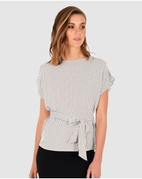 Forcast - Chandry Tie Waist Top
