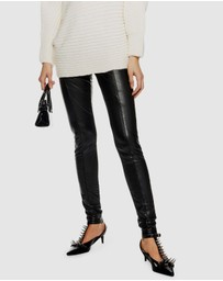 TOPSHOP - Ultimate Super Stretch Faux Leather Trousers