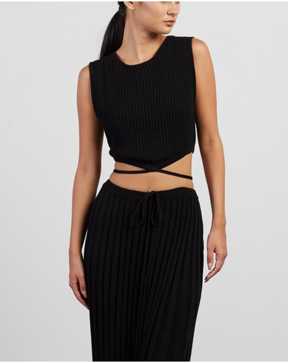 Christopher Esber - Sleeveless Knit Tie Crop