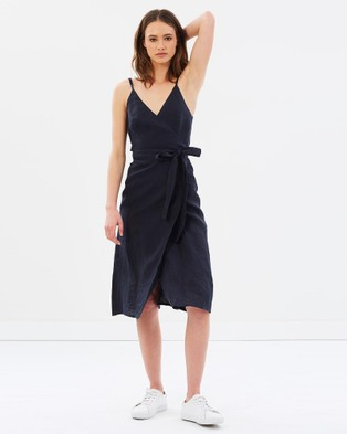 Jillian Boustred – Beatrix Wrap Dress Ink