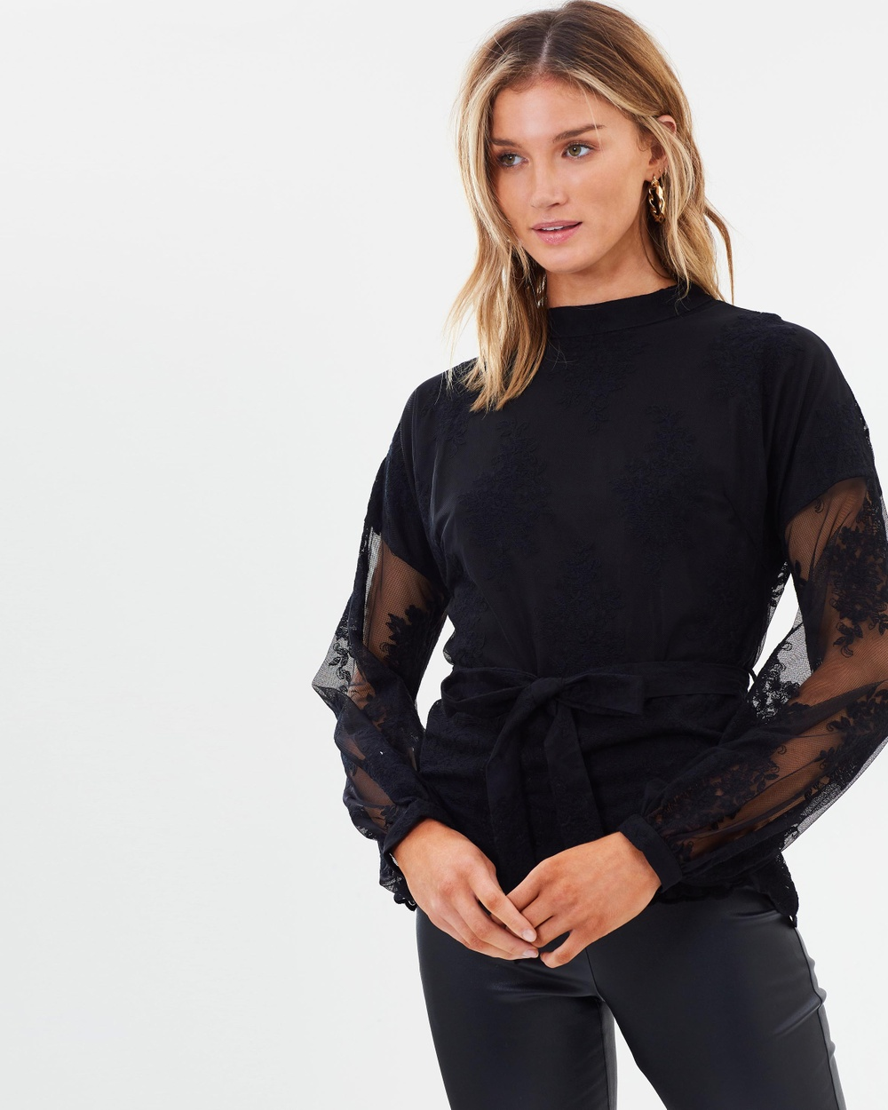 Ministry of Style Wanderer Top Tops Black Wanderer Top