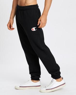 Champion C Logo Cuff Pants - Track Pants (Black)