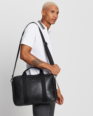Ted Baker Importa Leather Document Bag - Bags (Black)