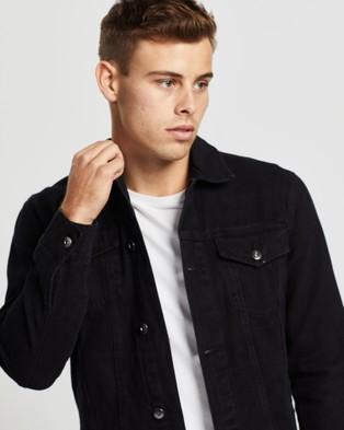 AERE Organic Twill Trucker Jacket - Coats & Jackets (Black)