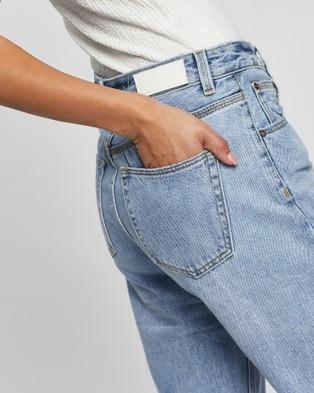 Ziggy Denim Straight Up Relaxed Jeans - High-Waisted (Indigo Raider Trash)