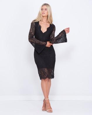 Tussah – Alpha Lace Midi Dress – Bodycon Dresses Black