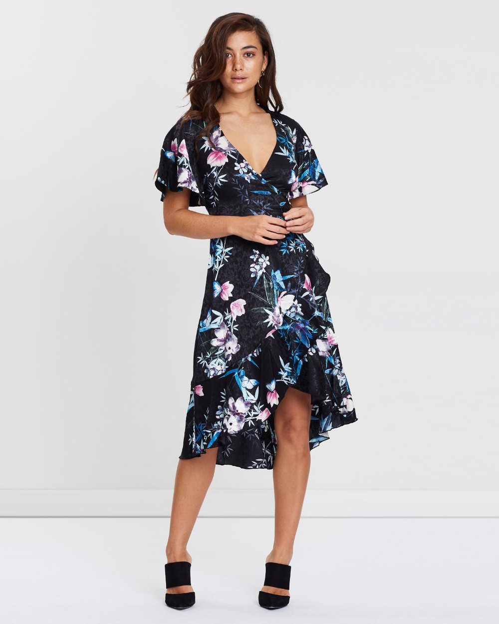 c99b6aa8a5f6 Amelia Print Floral Wrap Dress by Lipsy Online