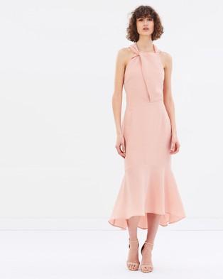Rebecca Vallance – Ambrosia Halter Midi Dress – Bridesmaid Dresses Clay