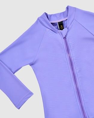 Aqua Blu Kids Stepping Stones Long Sleeve Rash Vest   Babies - Swimwear (Purple)