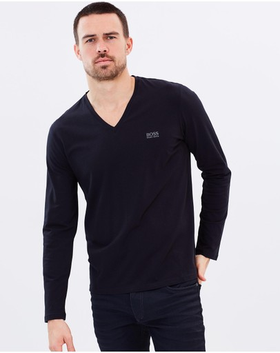 BOSS - Long Sleeve V-Neck Lounge Shirt
