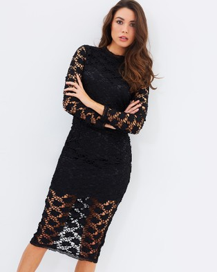 Airlie – Louise Lace Dress Black