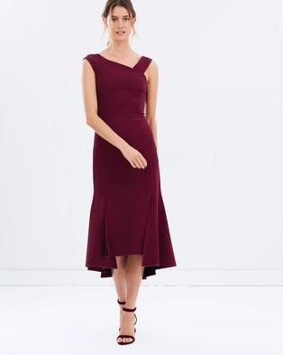 Ginger & Smart – Defiance Off Shoulder Dress – Dresses (Mulberry)