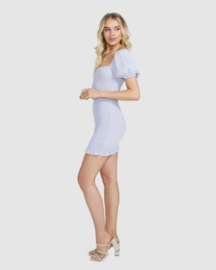 Alice In The Eve Violet Ruched Puff Sleeve Dress - Dresses (LILAC)