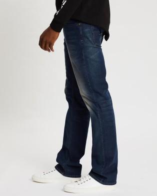 Diesel Larkee Straight Jeans - Jeans (Mid Blue)