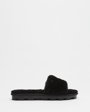 UGG Cozette Slippers   Women's - Slippers & Accessories (Black)
