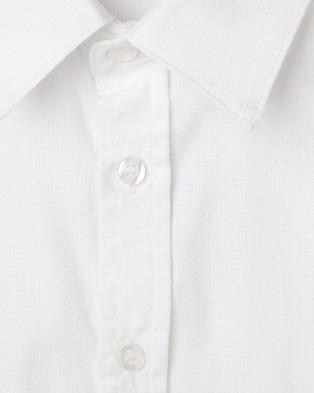 Designer Kidz Jackson Formal S S Baby Romper - Rompers (White)