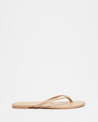 Atmos&Here Palm Leather Thongs - All thongs (Nude Leather)