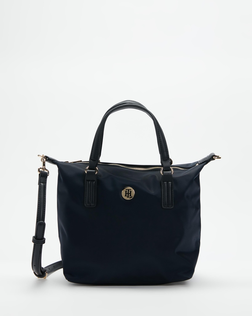 Tommy Hilfiger Poppy Small Tote Bag Handbags Tommy Navy