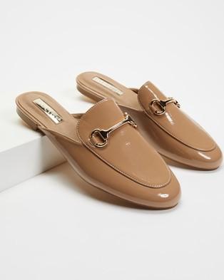 Billini Olivia Slide On Loafers - Flats (Taupe Patent)