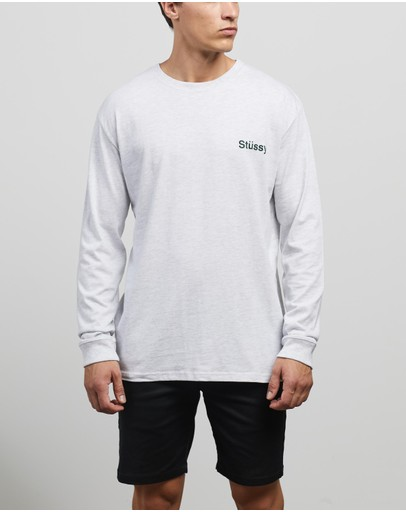 Stussy - Text Mock Neck Long Sleeve Tee