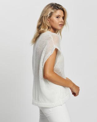 Love and Light The Label Harmony Vest - Tops (White)
