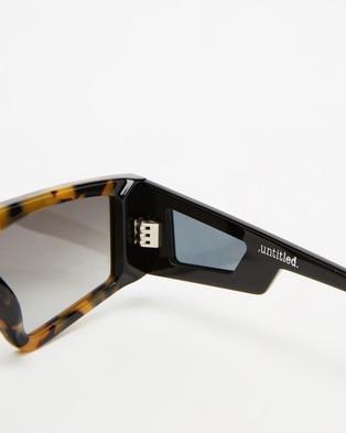 Valley Untitled - Sunglasses (Black, Tortoise & Grey Gradient)