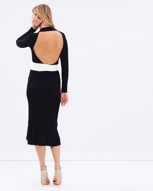 MLM – Solene Rib Dress – Bodycon Dresses Black & Ivory