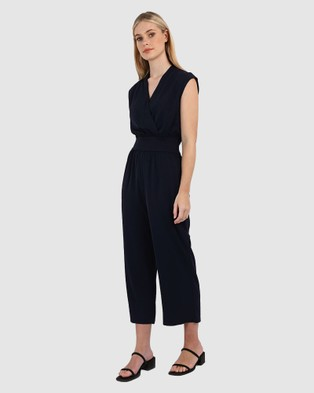 Forcast Sofia Crossover Jumpsuit - Jumpsuits & Playsuits (Dark Navy)
