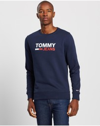 Tommy Jeans - Corp Logo Crew