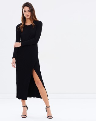 DELPHINE – Meridian Midi Dress – Dresses (Black)