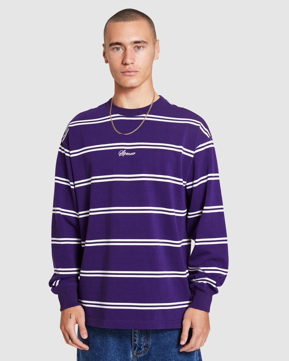 Spencer Project Ascot Long Sleeve T Shirt T-Shirts PURPLE T-Shirt Australia