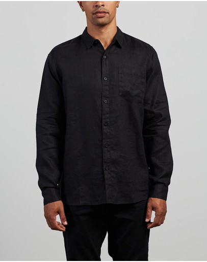 Silent Theory - Linen Long Sleeve Shirt