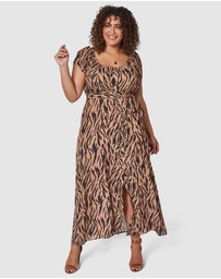 Something 4 Olivia - Lisa Zebra Maxi Dress