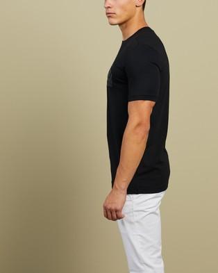 BOSS - Organic Foil Print Tee T-Shirts & Singlets (Black)