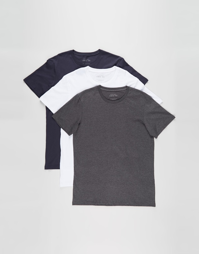 Cotton On - Essential Crew Tee 3-Pack