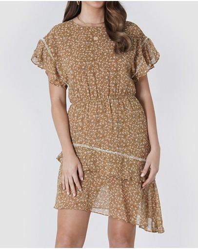 Amelius Keria Mini Dress Rust