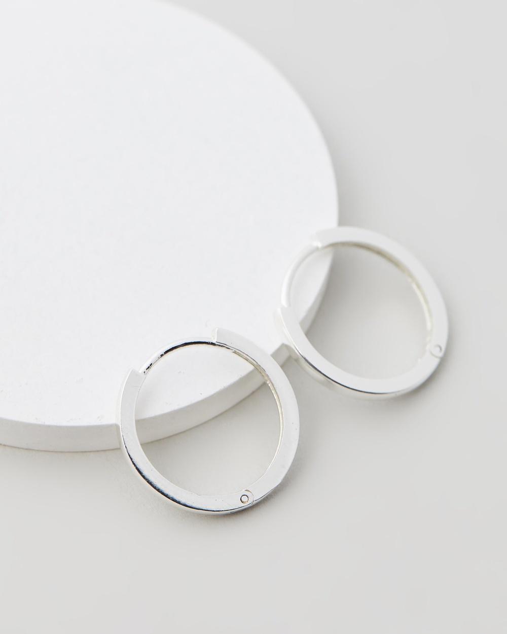 Orelia London Clean Metal 17mm Huggie Hoops Jewellery Silver