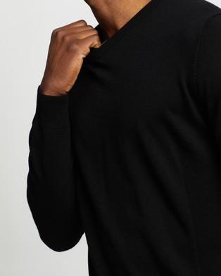 Icebreaker Shearer V Sweater - Jumpers & Cardigans (Black)