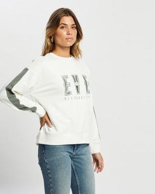 All About Eve Academy Crew - Sweats (FOREST GREEN)