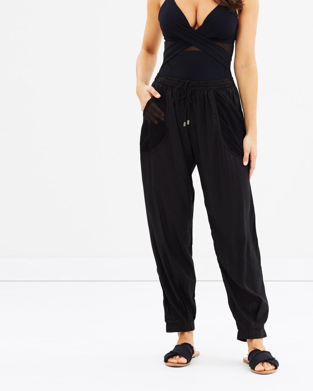 JETS Slim Leg Pants Swimwear Black Slim-Leg Pants