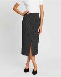 Forcast - Raven Polka Dot Skirt