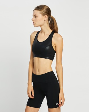 Running Bare No Bounce Long Line Sports Bra - Sports Bras (Black)